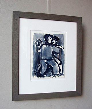 Krzysztof Kokoryn : Couple in tango : Watercolour on paper