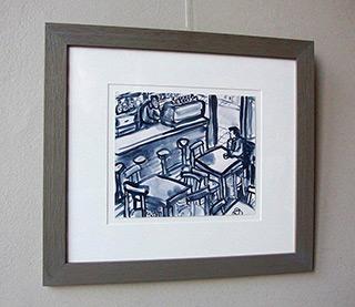 Krzysztof Kokoryn : First coffee : Watercolour on paper