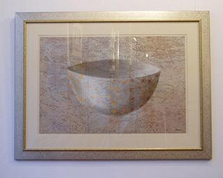 Dariusz Mlącki : Vase : Acrylic on Cork
