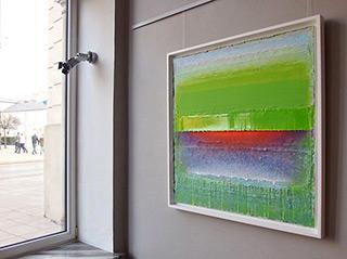 Sebastian Skoczylas : Horizon with greens : Oil on Canvas