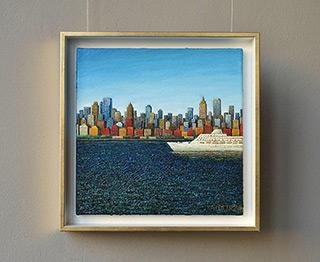 Adam Patrzyk : White liner : Oil on Canvas