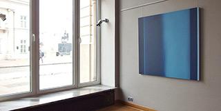 Anna Podlewska : Passage in blues : Oil on Canvas