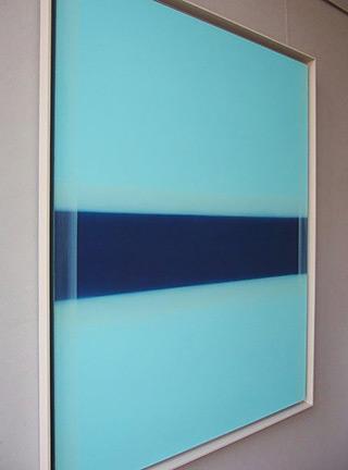 Anna Podlewska : Saturation of blue : Oil on Canvas