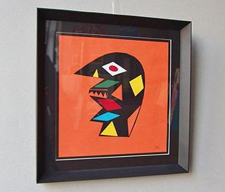 Daniel Zarewicz : Mask of Dionysus : Paper cutout