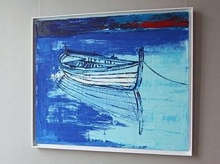 Jacek Łydżba : Boat : Oil on Canvas