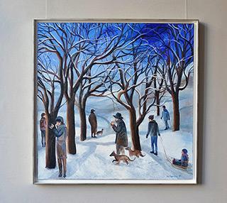 Katarzyna Karpowicz : Beautiful winter : Oil on Canvas