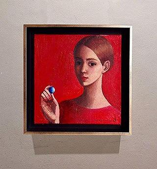 Katarzyna Karpowicz : Blue glass : Oil on Canvas