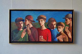 Katarzyna Karpowicz : Boyfriend's case : Oil on Canvas