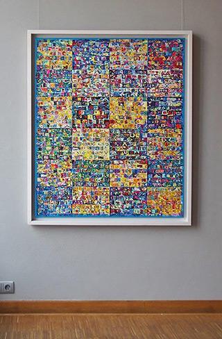 Krzysztof Pająk : Blue codes : Oil on Canvas
