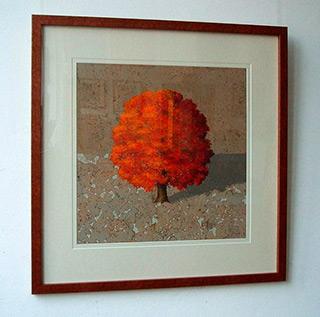 Dariusz Mlącki : Tree Red : Oil on Canvas