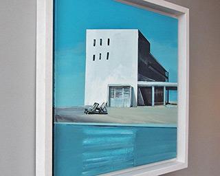 Maria Kiesner : Villa in Tel-Aviv : Tempera on canvas