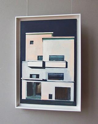 Maria Kiesner : White facade : Tempera on canvas