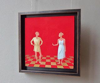 Mikołaj Kasprzyk : Conversation : Oil on Canvas