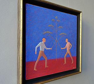 Mikołaj Kasprzyk : Fencers : Oil on Canvas