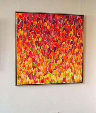 Beata Murawska : Tulips square : Oil on Canvas