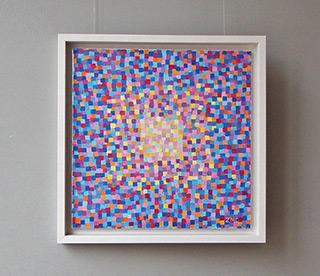 Zofia Matuszczyk-Cygańska : Game of blue and purple : Oil on Canvas
