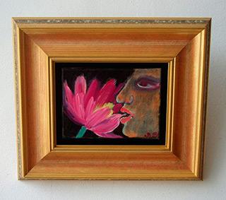 Beata Murawska : Woman And The Flower : Oil on Canvas