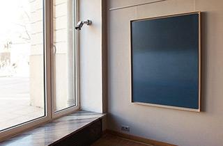 Anna Podlewska : Passage to deep blue : Oil on Canvas