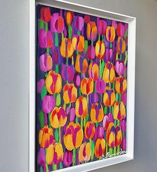 Beata Murawska : Orange garden : Oil on Canvas