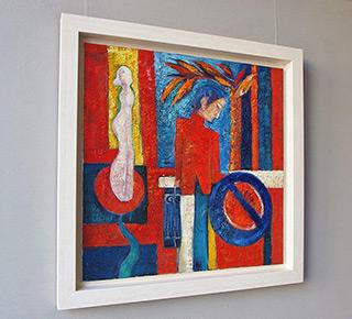 Darek Pala : My wife is naked : Oil on Canvas