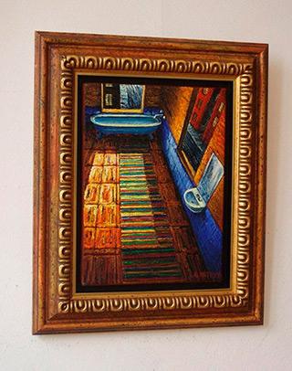 Adam Patrzyk : Bath Room : Oil on Canvas