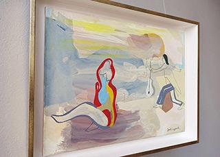 Jacek Cyganek : Run for the guitar, run : Tempera on canvas