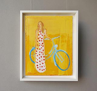 Jacek Łydżba : Biker in a polka dot dress : Oil on Canvas