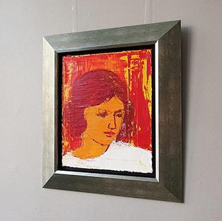 Jacek Łydżba : The face of an angel : Oil on Canvas