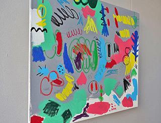 Kalina Horoń : Happy little thing : Acrylic on canvas