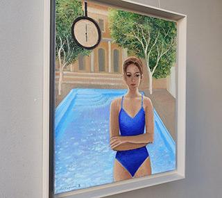 Katarzyna Karpowicz : Baths in Budapest : Oil on Canvas