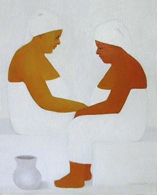 Katarzyna Castellini : Bath : Oil on Canvas