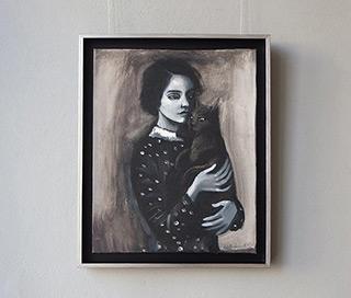 Katarzyna Karpowicz : My black cat : Oil on Canvas