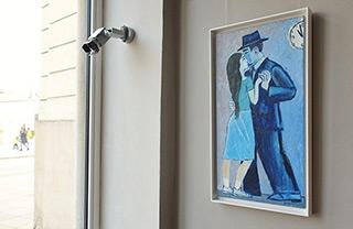 Krzysztof Kokoryn : Couple under the clock : Oil on Canvas