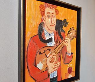 Krzysztof Kokoryn : Mandolin player : Oil on Canvas
