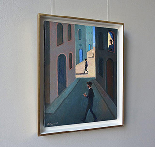 Katarzyna Karpowicz : A small, seaside street : Oil on Canvas