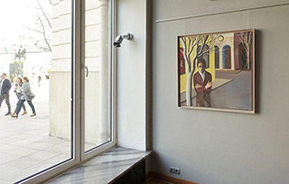 Katarzyna Karpowicz : Franz Kafka Street : Oil on Canvas