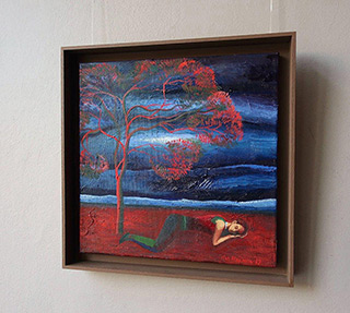 Katarzyna Karpowicz : Red tree : Oil on Canvas