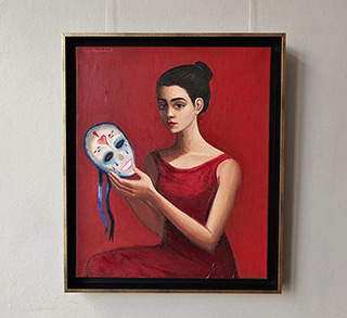 Katarzyna Karpowicz : The girl in red : Oil on Canvas