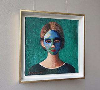 Katarzyna Karpowicz : The girl in the mask : Oil on Canvas