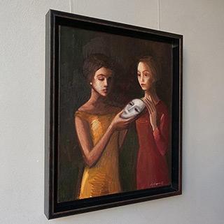 Katarzyna Karpowicz : Two girls and a mask : Oil on Canvas