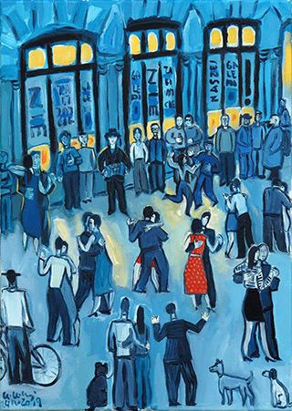 Krzysztof Kokoryn : The last Sunday Galeria Art : Oil on Canvas