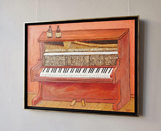 Krzysztof Kokoryn : Two small beers and an old piano : Oil on Canvas
