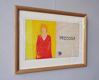 Jacek Łydżba : Preciosa : Tempera on old music sheet