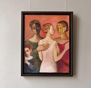 Katarzyna Karpowicz : The girl in a pink dress : Oil on Canvas