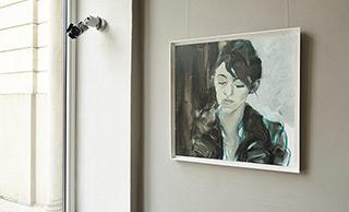 Katarzyna Swinarska : Girl with a cigarette : Oil on Canvas