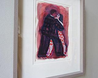Krzysztof Kokoryn : A couple dancing tango : Tempera on paper