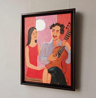 Krzysztof Kokoryn : Couple at the moon : Oil on Canvas