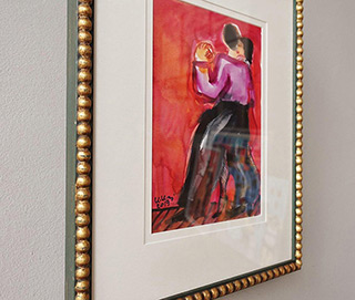Krzysztof Kokoryn : Tango dancers : Tempera on paper