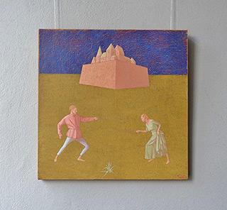 Mikołaj Kasprzyk : Fencing I : Oil on Canvas