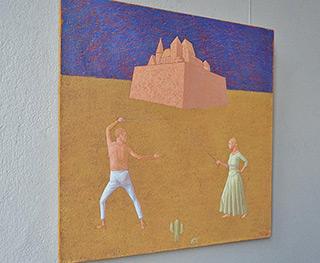 Mikołaj Kasprzyk : Fencing II : Oil on Canvas